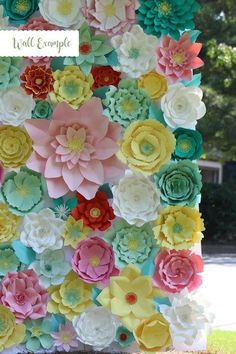 Paper flowers svgpng fluffy center 1 4 components to level up pdf paper flower paper flower template giant paper flower template flower template diy base and instruction including mightylinksfo