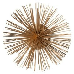 "Threshold™ 9.4"" Urchin Figural Wall or Shelf Sculpture - Gold"