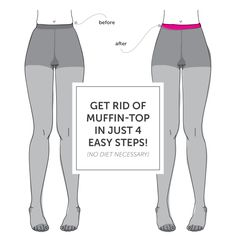 Get rid of that muffin top in about 5 minutes. No diet or exercise necessary (perfect for the upcoming holiday season!).