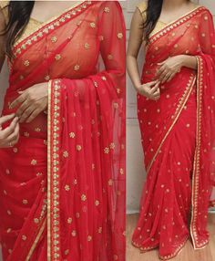 Designer Saree wedding Stylish Party wear Ethnic Dynamic Red Saree With Blouse Designer Sarees Wedding, Bollywood Designer Sarees, Indian Designer Sarees, Indian Sarees, Buy Designer Sarees Online, Wedding Sari, Bollywood Saree, Indian Bollywood, Designer Wear