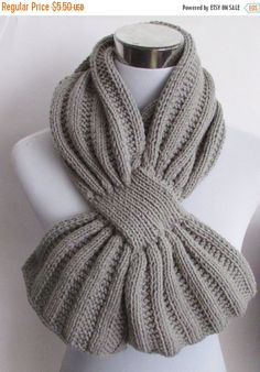 ON SALE Unisex Keyhole Scarf Knitting by BiggerthanlifeKnits