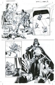 STAR WARS - Vader's Quest #1 pg9 - DAVE GIBBONS - Watchmen Comic Art