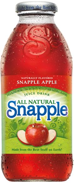 Snapple Apple - The crisp fruit flavor of a ripe red apple begs to be bottled up. We're happy to oblige. You can't spell Snapple without apple.