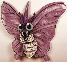 Paper Quilling Venomoth - 049 by wholedwarf on deviantART