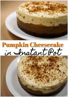 Homemade pumpkin cheesecake made in Instant Pot. Homemade pumpkin cheesecake will be the hit for your holiday party this year. Everyone will be asking you for the directions. Brownie Desserts, Oreo Dessert, Mini Desserts, Dessert Recipes, Cheesecake Desserts, Dessert Ideas, Chocolate Chip Cake, Chocolate Recipes, Instapot Cheesecake