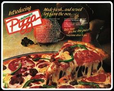 Year it was introduced: 1989   What was it: McDonald's attempt at entering the pizza market. It started off in a few select markets, before growing to over 500 locations. Eventually the McPizza was discontinued all together due to the amount of time it took to cook.