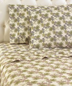 Another great find on #zulily! Pinecone Micro Flannel® Sheet Set #zulilyfinds