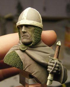 """Rafa Coll Blog: Días de Heroes and Villains """"Anglo-Norman Crusader, 1189"""". Modelado por Pedro Fernández (II)"""