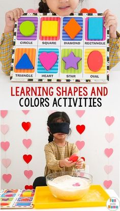 Your toddler or preschooler will love learning shapes and colors with these fun and easy to put together shape activities! Learning Shapes and Colors I've already showed you many of our favorite preschool shapes activities, Educational Activities For Toddlers, Shape Activities, Preschool Activities, Preschool Shapes, Preschool Weather, Early Learning Activities, Children Activities, Learning Colors, Kids Learning