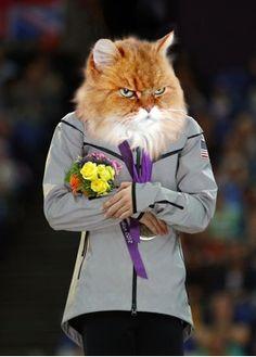 Olympic Worthy Felines Medal On Flickr! ... #pets #animals ... PetsLady.com | via @roncallari