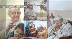 Pope thanks Argentine painter for self-portraits