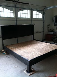 make your own bed frame.. Great for a guest bedroom so you don't spend ridiculous amounts of money on furniture