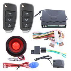 Creative Flip Key Remote Central Lock System Auto Keyless Entry Remote Open Trunk 4 Pcs Door Actuators No Car Alarm Function Attractive And Durable Alarm Systems & Security Burglar Alarm