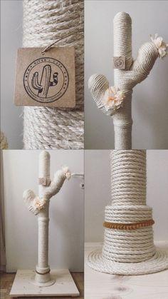 Cat Tree Designs, Diy Cat Tree, Cat Trees Diy Easy, Cactus Cat, Cat Towers, Cat Scratcher, Cat Room, Pet Furniture, Diy Stuffed Animals