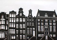 Image result for amsterdam grachtenhuizen architect tekeningen