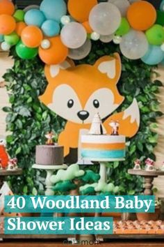 These woodland baby shower ideas including decorations food centerpieces and more are so cute every forest friend will want to be invited. This adorable theme can also be personalized for boys girls or be left gender-neutral. Baby Shower Ideas For Girls Themes, Baby Shower Decorations For Boys, Baby Shower Centerpieces, Food Centerpieces, Woodland Baby Shower Decor, Woodland Creature Baby Shower, Woodland Animals, Woodland Theme, Woodland Creatures
