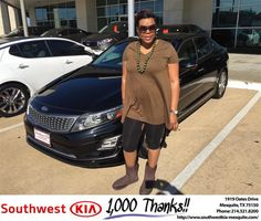 https://flic.kr/p/NUxoZr   Happy Anniversary to Lacrystal on your #Kia #Optima Hybrid from JERRY TONUBBEE at Southwest Kia Mesquite!   deliverymaxx.com/DealerReviews.aspx?DealerCode=VNDX