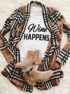 Love  this look! wine tees, wine lovers, good wine, graphic tee, graphic tshirts, woman's graphic tees, booties, how to dress your graphic tee, burberry, cute graphic shirts: