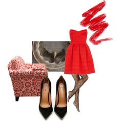 """Vintage red"" by accessories-boutique on Polyvore"