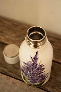 Bouteille isolante en acier design lilas peint à la main par Pero