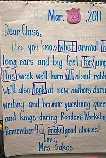 """once a week morning message idea- very manageable...great way to teach """"begin with end in mind"""" and discuss what will be happening for the week."""
