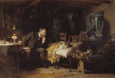 """The Doctor """"1891"""" by Sir Luke Fildes .. seems to be a medical mystery."""