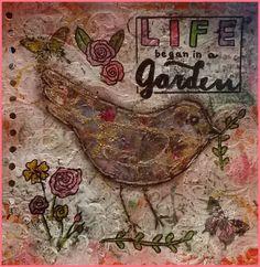 Mixed Media - Art Journal 2: Life began in a garden - v. skonea 2016
