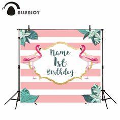 Trustful Neoback Flamingo Backdrop Summer Flamingo Birthday Background Adult Child Party Cake Table Decoration Photography Backdrops Attractive Fashion Consumer Electronics