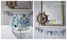 easy gorgeous blue hydrangea centerpiece
