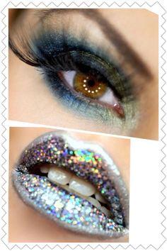 Glittery lips