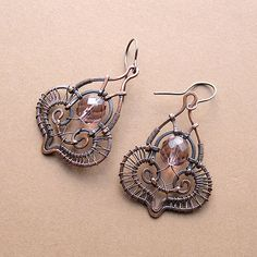 interesting wire worked earrings