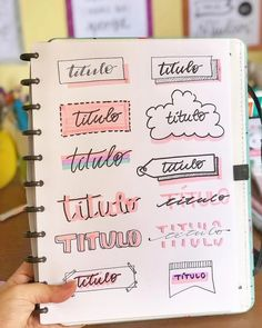 Ideas para apuntes Bullet Journal School, Bullet Journal Inspo, Bullet Journal Headers, Bullet Journal Banner, Bullet Journal 2019, Bullet Journal Notebook, Bullet Journal Aesthetic, Bullet Journal Ideas Pages, Bullet Journal How To Start A Layout