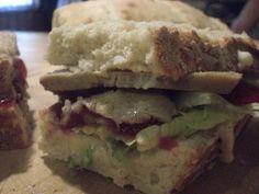 """""""Turkey"""" Seitan With Cranberry Sauce Sandwich #vegan"""
