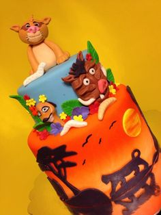 Lion King Cake Lion King Cakes, Cakes And More, Baby Boy Shower, Decoration, Cupcakes, Disney Princess, Disney Characters, Children, Decor