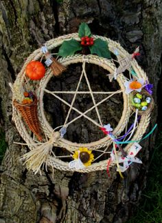 Handmade OOAK Wheel Of The year. All Sabbats Pagan Wiccan Decoration. Handfasting / Home Blessing Gift. $56.93