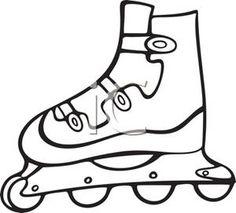 A Inline Rollerblade - Royalty Free Clipart Picture