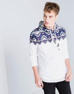 Bershka Hong Kong - Aztec print BSK nylon jacket