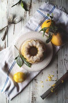 Meyer Lemon Almond Tea Cake by @HonestlyYUM