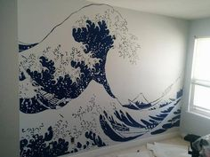 Vinyl Wall Decal Sticker Japanese Great Wave Hokusai #363 | Stickerbrand wall…