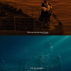 "Titanic. ""This was the last time Titanic ever saw daylight."""