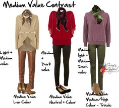 Discover your contrast levels so that you can choose clothes and accessories to flatter your natural appearance. Your value contrast and colour contrast