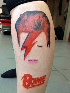 Iconic David Bowie tattoo
