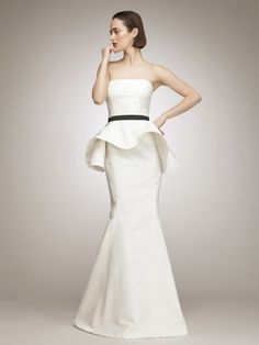 Peplum wedding dress. Well isn't this the most unique thing
