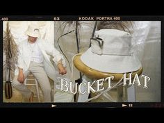DIY: Bucket Hat — CHRISTOPHER CABALONA Free Pattern Download, Kodak Portra, Diy Accessories, Bucket Hat, Hats, Bob, Hat, Hipster Hat, Caps Hats