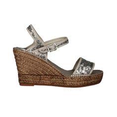AEDO Silver Sequin Espadrille Sandals | SPANISHOPONLINE.COM