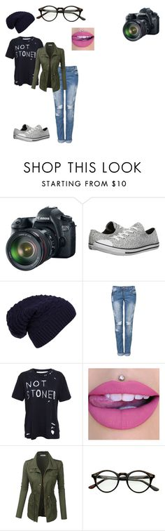 """""""Going to my brother's last basketball game today -Bta"""" by giggly-taco ❤ liked on Polyvore featuring Eos, Converse, WithChic, Enfants Riches Déprimés and LE3NO"""