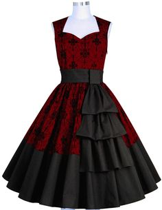 1950s Retro Dress Chic Star Design by Amber Middaugh Standard Size$49.95 Plus Size $59.95