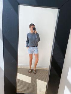 #Blue #white #stripes #shorts #birkenstock #summer Birkenstock, Stripes, Shorts, Summer, Blue, Outfits, Inspiration, Biblical Inspiration, Summer Time