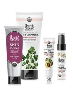 *Best of Nourish Set*  Experience the Best of Nourish Organic! Assembled from our most popular products, this Best of Nourish Set includes our Facial Cleanser, Renewing + Cooling Eye Treatment Cream, Face Serum and Skin Solve. Great for gifting, stocking stuffers or to keep for yourself, it provides revitalizing and rejuvenating skin care from head to toe. http://nourishorganic.com/collections/web-exclusives/products/best-of-nourish