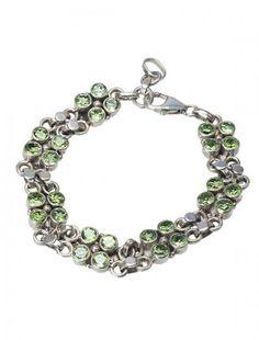 Silver & Peridot Bracelet - Available at Onyx Goldsmiths